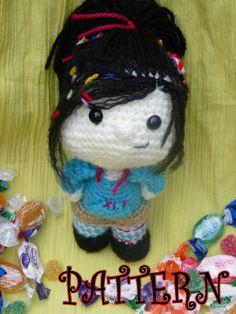 Vanellope Von Schweetz in crochet amigurumi PATTERN PDF