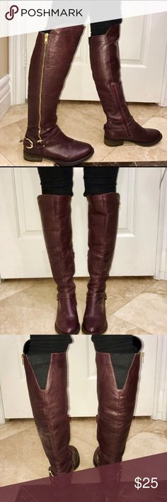 Steve Madden SKIPPUR Knee High Leather Boots Steve Madden SKIPPUR Knee High Leather Boots Steve Madden Shoes Over the Knee Boots