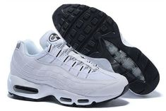 cb210496cd7 New style Nike Air Max 95 White/Black Men's Running Shoes Sneakers 609048  109