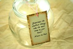 Baby Shower Tags-  Vintage Book Page Winnie the Pooh Favor Tags Boy Girl Neutral