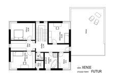 Projekt rodinného domu Xenie výkres.135