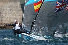 Photo 3 - July 29, 2012 - Solid start: Sailing star Ben Ainslie took second place in the opening race of the Finn class - 423 x 636