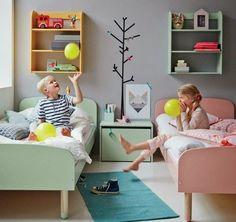 Ideias para quarto conjunto de menino e menina! Aqui tem mais fotos: http://mamaepratica.com.br/2015/03/16/20-decoracoes-de-quarto-para-menino-e-menina-juntos/