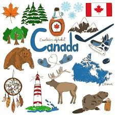Illustration about Fun colorful sketch collection of Canada icons, countries alphabet. Illustration of national, illustration, background - 42189849 Canadian Culture, Canadian History, Canadian Symbols, American History, Geography For Kids, World Geography, Teaching Geography, World Thinking Day, Canada Day