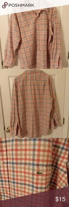 VTG Lacoste men's button up shirt Preowned in EUC, no flaws found, make offer :) Lacoste Shirts Casual Button Down Shirts