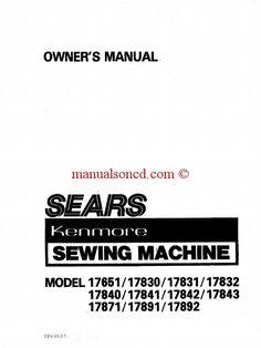 Kenmore 158.10101 Sewing Machine Instruction Manual