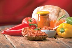 Ajvar, the master of winter food Slovak Recipes, Russian Recipes, Nutella, Winter Food, Preserves, Appetizers, Stuffed Peppers, Homemade, Bon Appetit