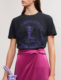MAJE - Tobiane Cobra City cotton-jersey T-shirt   Selfridges.com Rock 05eba4b2f0
