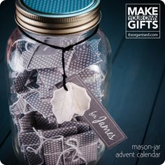 Make Your Own Mason Jar Advent Calendar