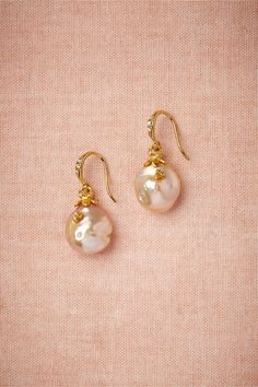 Night's Light Earrings in Shoes & Accessories Jewelry Earrings at BHLDN Gold Rings Jewelry, Pearl Jewelry, Stone Jewelry, Wedding Jewelry, Wedding Rings, Real Pearl Earrings, White Earrings, Gold Earrings Designs, Gold Jewellery Design