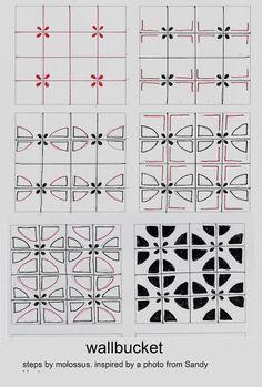 Life Imitates Doodles: Tangle Pattern WallBucket