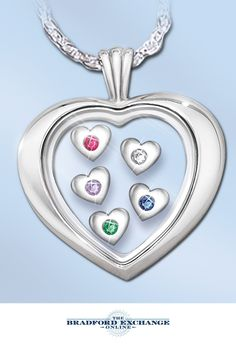 Create a meaningful custom gift for Mom with this sterling silver heart-shaped birthstone pendant necklace. Perfect for Mother's Day!
