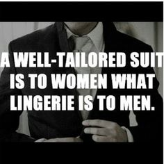 Guess we should be going to bed wearing well-tailored suits!