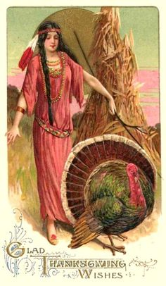 Vintage Cards For thanksgiving: Glad Thanksgiving Wishes
