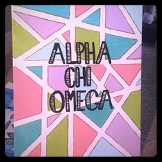 Sorority Canvas I can make this canvas for any sorority. Or if you want your name I can do that as well. This is a 20x16 canvas. If you want me to make another size let me know. Tops