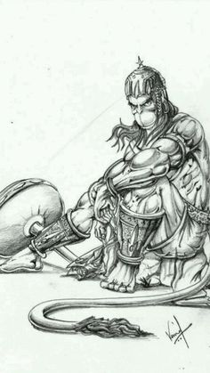 Hanuman... Found this pic on the net, it's beautiful, cool and so religious at the same time... SP