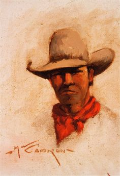 Texas Cowpuncher, by Mike Capron; Texas Cowboy Art