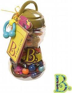 B. Toys Zestaw 24 ogniw - Gryzaczki - Ogniwa to kolorowa zabawka, która stanie się ulubioną formą ćwiczenia właściwego, silnego uchwytu przez Malucha.