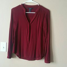 Maroon blouse Worn once(: Tops Blouses