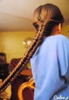 Gorgeous long braid.
