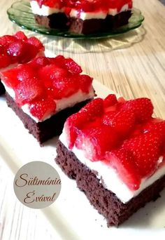 Summer Desserts, Sweet Desserts, Hungarian Recipes, Cheesecake, Deserts, Food And Drink, Sweets, Meals, Dishes