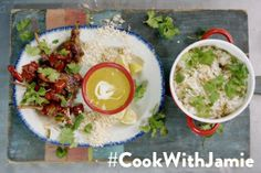 Cook with Jamie Oliver Lamb lollipops rice lentils and peas - WordPress Sitesi 15 Min Meals, Lamb Lollipops, Rice And Peas, Curry Sauce, Jamie Oliver, Lentils, Food To Make, Good Food, Food And Drink
