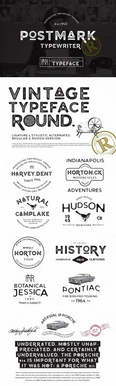 by celciusdesigns on Envato Elements Font Combos, Open Type, Vintage Typewriters, Sans Serif Fonts, Text Me, Cool Fonts, Journal Cards, Typography Design, Vintage Posters