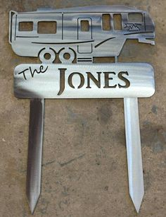 Our Custom Camp Signs for your home away from home. Cut from Thick US Steel . Our Custom Camp Diy Wooden Projects, Metal Projects, Wooden Diy, Man Cave Garage, Camping Signs Personalized, Backyard Signs, Fifth Wheel Campers, Pvc Pipe Crafts, Metal Art Decor