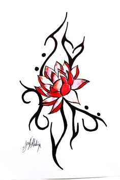 lotus flower tattoos for women | Lotus tattoo design. by JessiExMachina