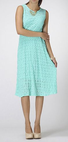 Mint Knit Midi Dress