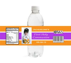 CM1 Photo  First Holy Communion Water Bottle Labels