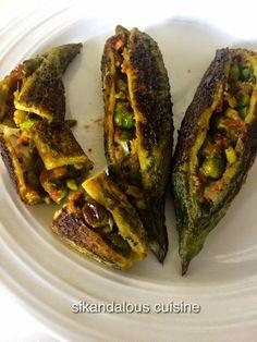 Sikandalous Cuisine: Karelas Stuffed With Peas