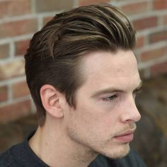 side-swept quiff hairstyle