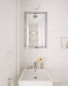 French Home Interior Before/After: A Remodelista& Refreshed Parlor Floor Flat in Brooklyn Heights, NY - Remodelista Brooklyn Heights, Classic Bathroom, Duravit, Wall Mounted Shelves, Minimalist Decor, Cheap Home Decor, Home Decor Accessories, Home Organization, Flooring