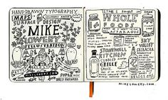 Mike Lowery - today's sketchbook page. mikelowery.com