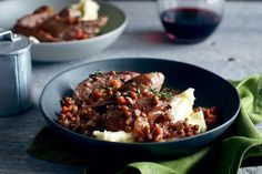 Sausage don't always have to be boring and barbecued. Take them up a notch with thyme-infused lentils and creamy mash.