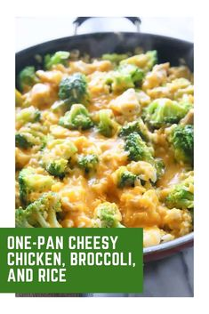 one pan dinner This One-Pan Cheesy Chicken, Broccoli, and Rice dish is perfect for a busy weeknight when things are hectic. Only one dish to clean for this satisfying one-pan dinner reci Cheesey Chicken, Cheesy Broccoli Rice, Chicken Broccoli Cheese, Chicken Broccoli Rice Casserole, Ground Chicken Casserole, One Pan Dinner Recipes, Rice Dishes, Frozen Broccoli Recipes, Frozen Chicken Recipes