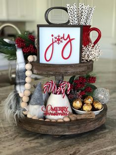 These cute joy sign are a perfect addition to your farmhouse and Rae Dunn fall and holiday Christmas decor. They look great on tiered trays, shelves, hutches or by themselves. These signs are Meaning the letters are raised wood cutouts. Our signs a Primitive Christmas, Farmhouse Christmas Decor, Rustic Christmas, Christmas Home, Christmas Holidays, Farmhouse Decor, Christmas Bathroom Decor, Christmas Mantles, Silver Christmas