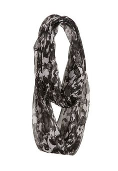 Floral Chiffon Infinity Scarf (original price, $14) available at #Maurices