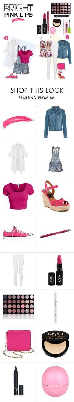 """""""#PinkLips!"""" by ablondebabe ❤ liked on Polyvore featuring beauty, Topshop, Tommy Hilfiger, Abercrombie & Fitch, LE3NO, Dolce Vita, Converse, Urban Decay, Frame Denim and NYX"""