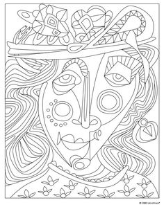 Coloring Pages of Famous Artists Famous artwork Red fish and