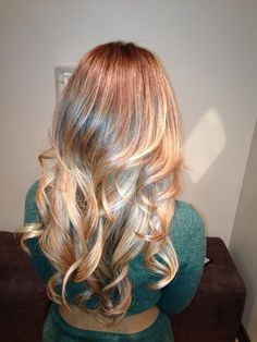 Balayage Ombre Blonde Hair Color