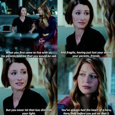 """You've always had the heart of a hero, Kara, way before you put on that 'S'"" - Alex and Kara #Supergirl"