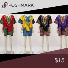 Dashiki Tops Dashiki Tops one size fit all Tops Tees - Short Sleeve