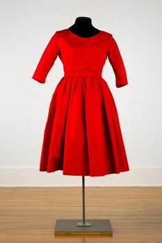 "Cocktail Dress, Hattie Carnegie, New York: 1959, rayon.     Label center back: ""Hattie Carnegie Custom Made"""