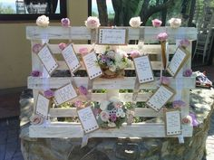 Tableau Mariage Schabby Chic