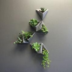 Tesselation / / moderne Wand-Pflanzer / / Satz Tesselation // Modern Wall Planter // Set of 3 Plant Wall, Plant Decor, Wall Design, House Design, Garden Design, Design Design, Modern Design, Design Ideas, Vertical Wall Planters