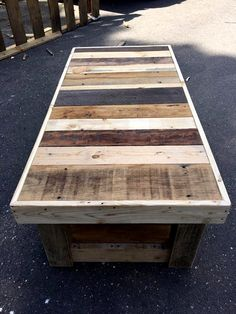 Custom Pallet Coffee Table with Glass Top