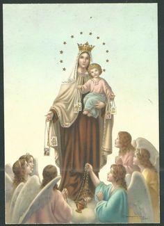 Our Lady of Mount Carmel Religious Symbols, Religious Images, Religious Art, Blessed Mother Mary, Blessed Virgin Mary, Catholic Art, Catholic Saints, Santa Maria, Michael Jackson Grave