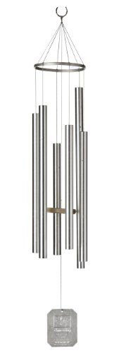 Chimes  Grace Note Chimes 5S 36-Inch Island Melody Wind Chimes, Small, Silver Outdoor Living -- This is an Amazon Associate's Pin. Clicking on the VISIT button will lead you to find the item on the website.